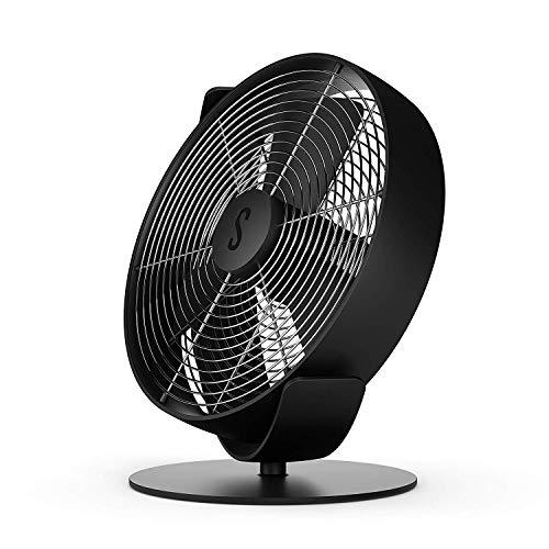 Stadler Form Tischventilator Tim, kühlt leise mit stufenlosem Drehzahlregler, mit USB-Anschluss, ideal für Schlafzimmer und Büro, 26,7 x 28,5 x 18,9 cm, schwarz