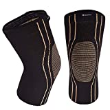 Thx4 Copper Sports Compression Knee Sleeve for Joint Pain and Arthritis Relief, Improved Circulation Support...