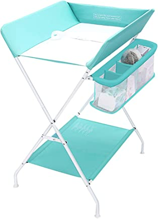 JINYANG Multifunctional Newborn Portable Clothes Diaper Changing Table Massage Table Storage Foldable Safety Straps Nursery 0-3 Years Old