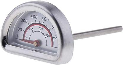 FLAMEER Semicírculo BBQ Termómetro Medidor Horno Termómetro Bimetálico Para Hornear 0 ℃ -350 ℃