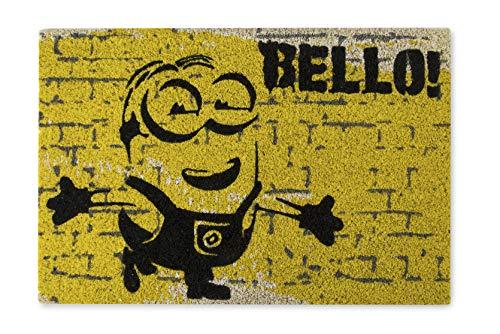 Excelsa Minions Felpudo Entrada, Amarillo, 40 x 60 cm
