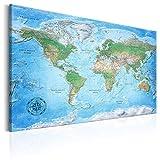 decomonkey Pinnwand Weltkarte Kork XXL 120x80 cm Bilder Wanddeko Wandbild