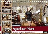 Puppenhaus-Traeume (Tischkalender 2022 DIN A5 quer): Puppenhaus zwischen Nostalgie und Modern. (Monatskalender, 14 Seiten )