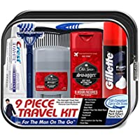 9-Piece Convenience Kits Men's Deluxe Man On the Go Travel Kit