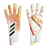adidas PRED GL PRO Soccer Gloves, White/pop, 5.5