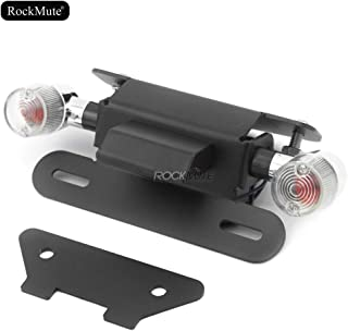 License Plate Bracket Holder With Turn Signal Indicator Compatible With Honda Grom 125 MSX125 Monkey 2013 2014 2015 2016 Tail Tidy Fender Eliminator Rear Mudguard Simple Design Waterproof Aluminum