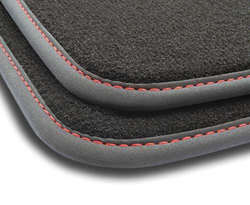 Ciberfix Kit de Alfombrillas de Velour Premium Compatible con Volkswagen Golf V/Vi (2003-2012) agarres ovalados