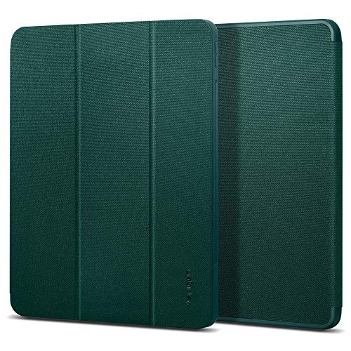Spigen Urban Fit Compatible with iPad Pro 12.9 Case with pencil holder (2020/2018) - Midnight Green