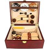 Schuhputzkiste aus Holz mit Schuhpflegeset & Gravur