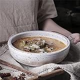 Cuencos de postre Retro gran carne de res de fideos cuenco estilo japonés sopa de sopa de fruta ensalada de fruta cuenco creativo ramen cuenco mezclando cuenco cuenco cerámico vajilla 8 pulgadas Ensal