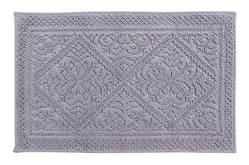 Bessere Trends/Pfanne Overseas Provence Jaquard Bad Teppich, grau, 43,2x 61cm