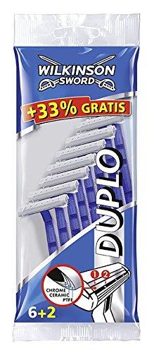 Wilkinson Sword Duplo Herren Einwegrasierer, 6 + 2 St, 1er Pack