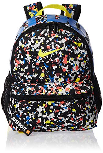 Nike Kids' Y NK BRSLA JDI MINI BKPK - AOP Sports Backpack, Black/Black/(Opti Yellow), MISC