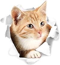 Diamondo 3D Cute Cat PVC Wall Sticker Waterproof Removable Fridge Toilet Decals