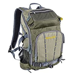 This fishing backpack photo shows the Allen Gunnison Switch Pack.