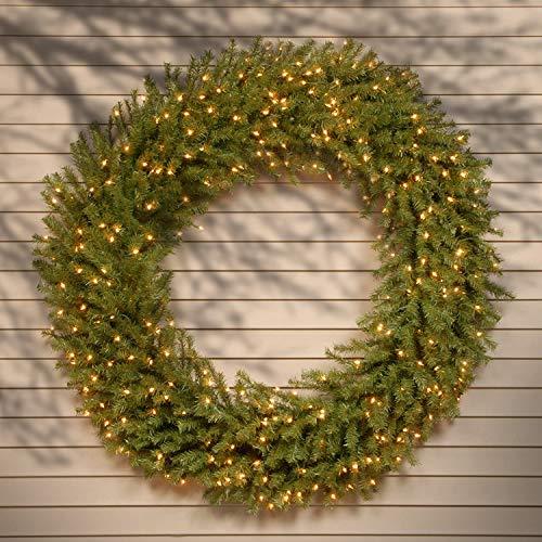 outdoor christmas wreath pre lit