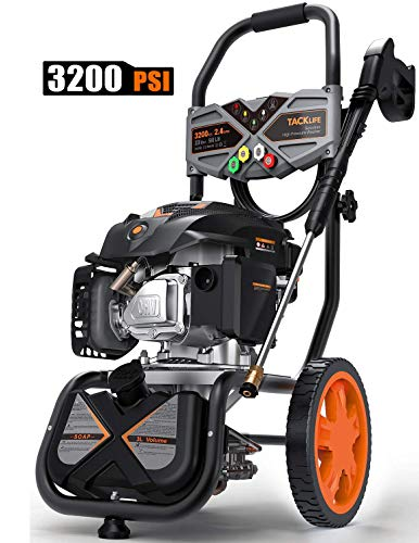 ($50 OFF) TACKLIFE 3200PSI Gas Pressure Washer, 2.4GPM 6.5HP Power Washer $219.59