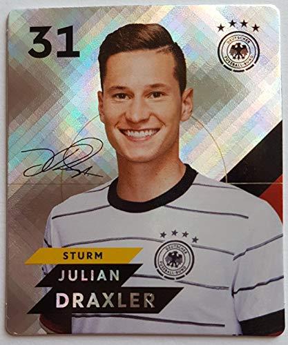 Rewe EM 2020 DFB - Sammelkarten - Glitzer - Julian Draxler - Nr. 31 - Zusatzbonus 1 toysagent Sonderkarte