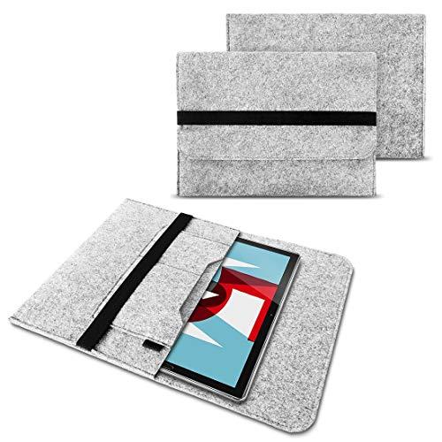 NAUC Sleeve Filz Hülle für Huawei MediaPad M5 / Pro Tablet Tasche Schutzhülle Cover, Farben:Hell Grau