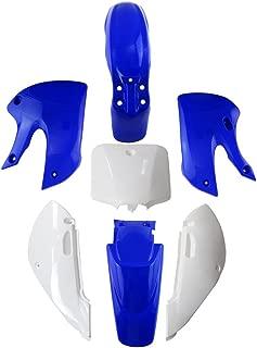 Plastic Fender Kit Fairing for Pit Drit Bike Kawasaki KLX 110 KX65 Suzuki DRZ (4Blue 3White)