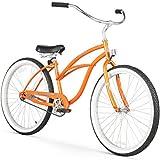 Firmstrong Urban Lady Single Speed - Women's 26' Beach Cruiser Bike (Orange)