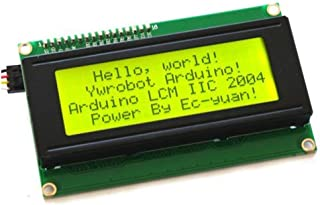 HiLetgo 2004 20X4 LCD Display LCD Screen Serial with IIC I2C Adapter Yellow Green Color LCD for Arduino Raspberry Pi