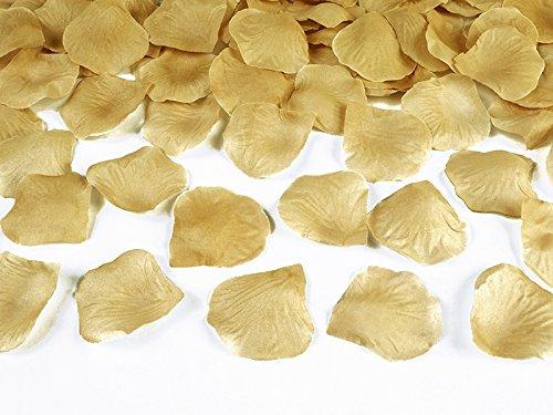 jakopabra Deko - Rosenblätter zum streuen 100 Stück Hochzeit Tischdeko (gold)