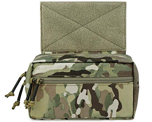 KRYDEX Tactical Drop Pouch Sub Abdominal Carrying Kit Bag for Tactical Vest Chest Rig (Multicam)