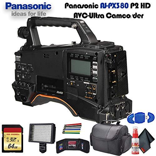 Best Bargain Panasonic AJ-PX380 P2 HD AVC-Ultra Camcorder (AJ-PX380G) with Padded Case, LED Light, 6...