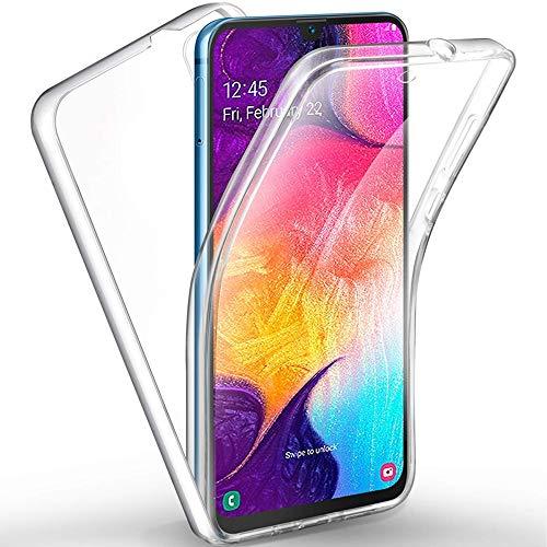 NewTop Cover Compatibile per Samsung Galaxy A50 / A50S / A30S, Custodia Crystal Case Guscio Gel TPU Pet Plastica 360 Fronte Retro