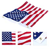 Amarine Made 12x18 Inch Yacht Boat Ensign Nautical US American Flag with Sewn Stripes and Embroidered Stars -45CM(18Inch)30CM(12Inch)for Boat, Yacht, Workplace,Home, Business & Outdoor Use