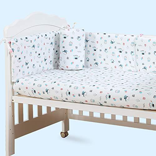 Protections de berceau de lit de bébé pour bébé Protège-rail de sécurité en coton Respirant, protecteur de berceau, oreiller de bumper Sleep, kit de literie pour enfants, couverture de 4 côtés, drap de lit, 110 * 60, 110 * 65, A3, 110 * 60