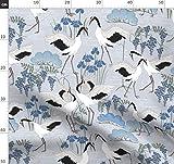 Vögel, Japanisch, Tanzen, Kraniche, Iris, Blauregen,