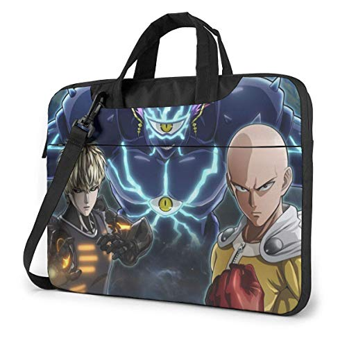 XCNGG Anime ONE Punch Man Stylish Customized Laptop Shoulder Bag, Suitable for 13-15.6 inch MacBook Pro/Air and Most Other Laptops, Portable Laptop Bags, Briefcase Protective Covers