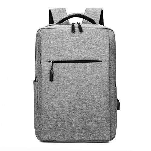 Mochila Backpack Impermeable Mochila Masculina De Moda Mochila para Portátil De 15,6 Pulgadas De Color Sólido Mochila Escolar Impermeable para Hombres Adolescentes Niños Escue Entrega Rápida Gratuita
