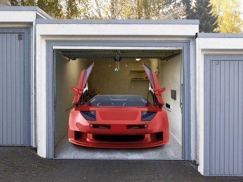 Pfiffig-Wohnen Garagentor Fotoplane Sportwagen