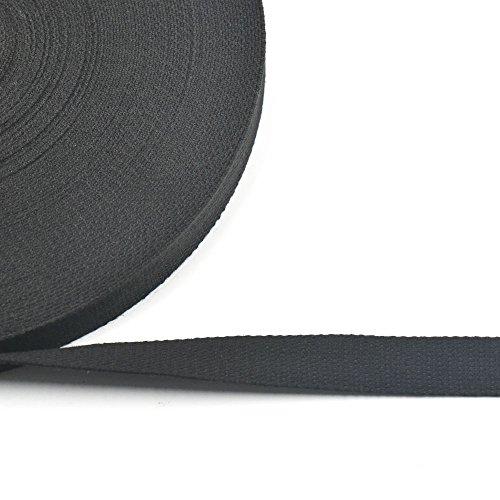9 metros de cinta de algodón tejido trenzado de 25mm para hebillas, bolsas, bolsos de mano, correas, cinturones, 6colores