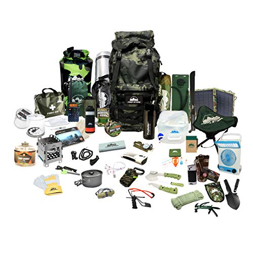 Prep Store Elite Emergency Pack - Emergency Survival Pack - Survival Kit - Bugout Bag - Hurricane...