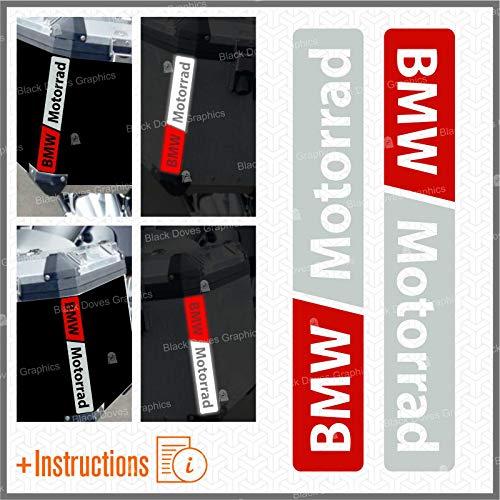 2pz adesivi rifrangenti compatibili con Motorrad F 650 700 800 R 1150 1200 1250 GS A (grigio-rosso)