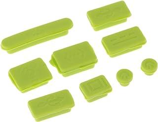 HOMYL 9pcs/Set Protective USB Ports Anti-Dust Plug Cover Stopper for MacBook Pro Green