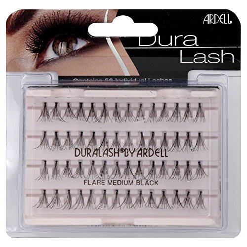 Ardell DuraLash Lot de 56 faux-cils courbés de taille moyenne Noir