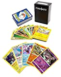 100 Pokemon Cards with 5 Holo Rares Plus Poshinzo Card Box