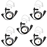 abcGoodefg FBI Style Surveillance Covert Headset Earpiece Mic for HYT (Hytera) Radios Motorola radioa CLS1110 CLS1410 CLS1413 CLS1450 CLS1450C CP200 PR400 CP100 TC-500 (5 Pack)