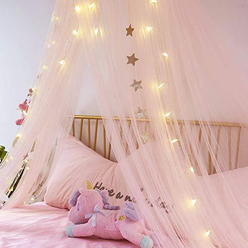 hdfj12138 MoskitonetzeMädchen Herz Traum Bett Vorhang Schlafzimmer Nacht Prinzessin Gaze Kind schwebende Decke Zelt Moskitonetz-grau