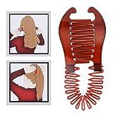 Zonster Bandas Nueva Mujer ni?as elásticos trenzadora del Pelo Escorpión Tipo Herramienta de sujeción del Pelo Cola de Caballo de Goma Accesorios para el Cabello Rojo marrón