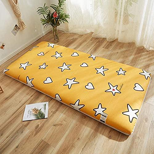 LIMIAO Tatami colchoneta para Dormir, colchón japonés de 5 cm de Espesor, colchón de futón, colchón Plegable para Estudiantes (180x200cm),1s,120x200cm