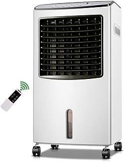 Móviles Evaporativos Ventiladores Calentador Y Enfriamiento Vertical Doméstico De Doble Uso Ventilador De Aire Acondicionado 8L Tanque De Agua Grande 7.5H Temporizador con Cable Largo De 1.75 M