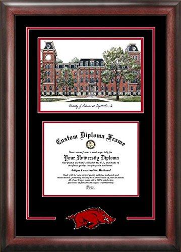 Campus Images AR999SG University of Arkansas Spirit Graduate Diplom Rahmen mit Lithografie-Druck, 21,6 x 27,9 cm, mehrfarbig