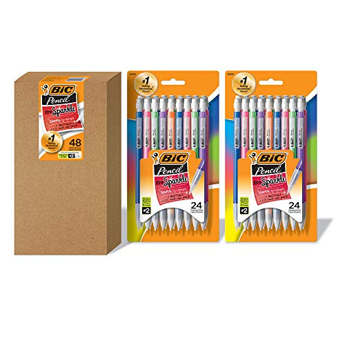 48-Count BIC Xtra Sparkle Colorful Barrel Mechanical Pencils (Medium Point, 0.7 mm) $5.55 + Free Shipping w/ Prime or on orders over $25