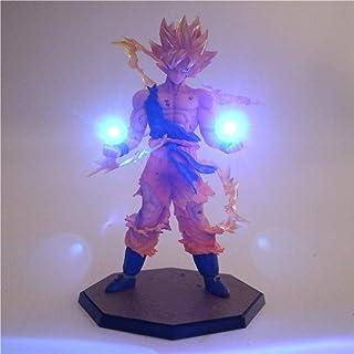 Yvonnezhang Anime Dragon Ball Z Son Goku Luz LED Super Saiyan PVC Figura de acción de colección Modelo Toy Night Light para Niños Regalo lámpara Decor 3